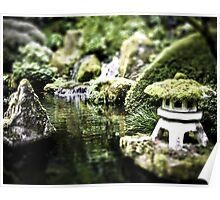 Zen Puddle, Portland, OR. Japanese Garden Poster