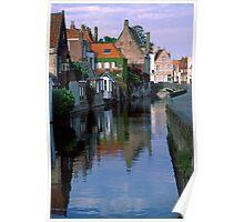 Bruges Canal, 2002 Poster