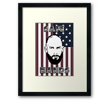 Tim Howard Safe Hands Flag Framed Print