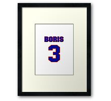 National Hockey player Boris Mironov jersey 3 Framed Print