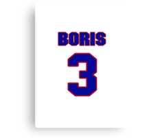 National Hockey player Boris Mironov jersey 3 Canvas Print
