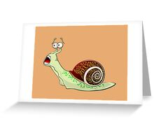 Scared Snail Greeting Card