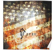 American Firefighter Hero Poster