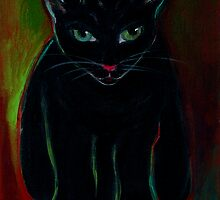 RAJI THE BLACK BELT KITTY by artist4peace