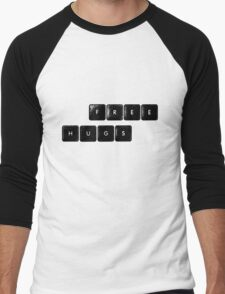 free hugs (keyboard) Men's Baseball ¾ T-Shirt