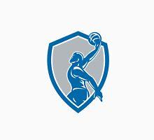 Basketball Player Dunk Ball Shield Retro Unisex T-Shirt
