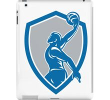 Basketball Player Dunk Ball Shield Retro iPad Case/Skin