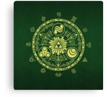 Zelda Triforce Art Logo Canvas Print