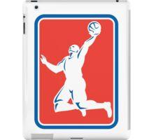 Basketball Player Rebounding Lay-Up Ball Rectangle iPad Case/Skin