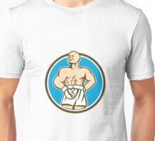Boxer Champion Shouting Circle Retro Unisex T-Shirt