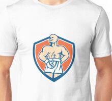 Boxer Champion Shouting Shield Retro Unisex T-Shirt