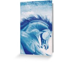 The Blue Cheval Greeting Card