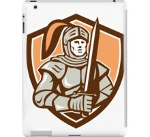 Knight Full Armor With Sword Shield Retro iPad Case/Skin