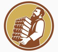 Saint Jerome Carrying Books Retro T-Shirt