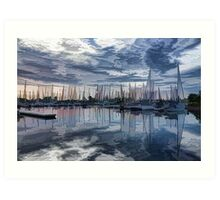 Sailboat Summer Impressions Art Print