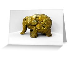 Golden Elephant Greeting Card