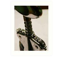 wine bottle opener Art Print