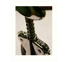 wine bottle opener Art Print