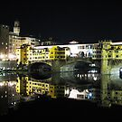 Florence Series #1 Ponte Vecchio by Night by Keith Richardson