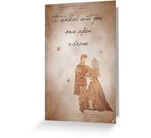 Sleeping Beauty inspired valentine. Greeting Card