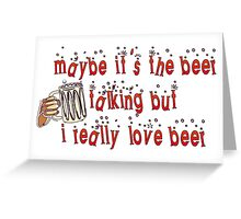 Funny Beer Greeting Card