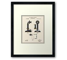 Telephone Patent - Colour Framed Print