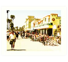 Venice Beach Sunday Art Print