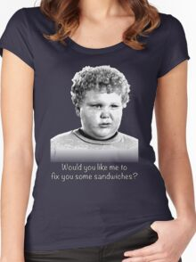 Would you like me to fix you some sandwiches (B+W) Women's Fitted Scoop T-Shirt