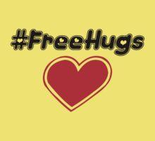 Free Hugs (hashtag) Kids Tee