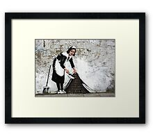 sweep it under the carpet Framed Print