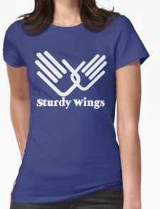 STURDY WINGS funny geek nerd Womens Fitted T-Shirt