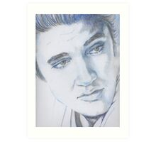 Elvis presley the king Art Print