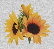 Ring of Sunflowers One Piece - Short Sleeve