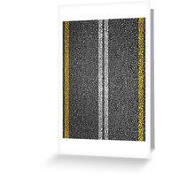 Asphalt Road. Greeting Card
