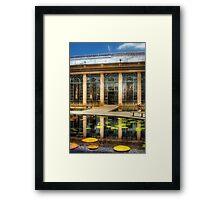 By the lily pond Framed Print