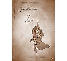 Tarzan inspired valentine. Photographic Print