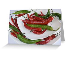 red&green pepper Greeting Card