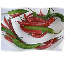 red&green pepper Poster