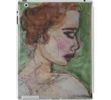 watercolor girl iPad Case/Skin