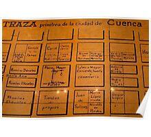 Hangman's Square in Old Downtown Cuenca Ecuador Poster