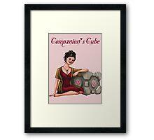 Companion's Cube Framed Print