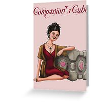 Companion's Cube Greeting Card