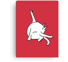 Cat washing bottom Canvas Print
