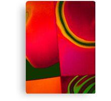 coloured quarter Canvas Print