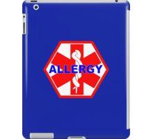 ALLERGY MEDICAL ALERT ID TAG iPad Case/Skin