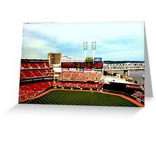 Cincinnati Reds Stadium Greeting Card