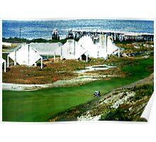 Puget Sound Golf Course Poster