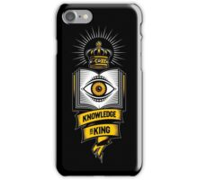 """""""KNOWLEDGE IS KING"""" iPhone Case/Skin"""