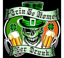 Leprechaun Skull 2: Erin Go Home Yer Drunk Photographic Print