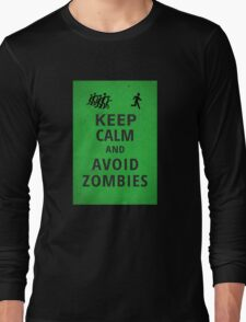 Keep Calm and Avoid Zombies Long Sleeve T-Shirt